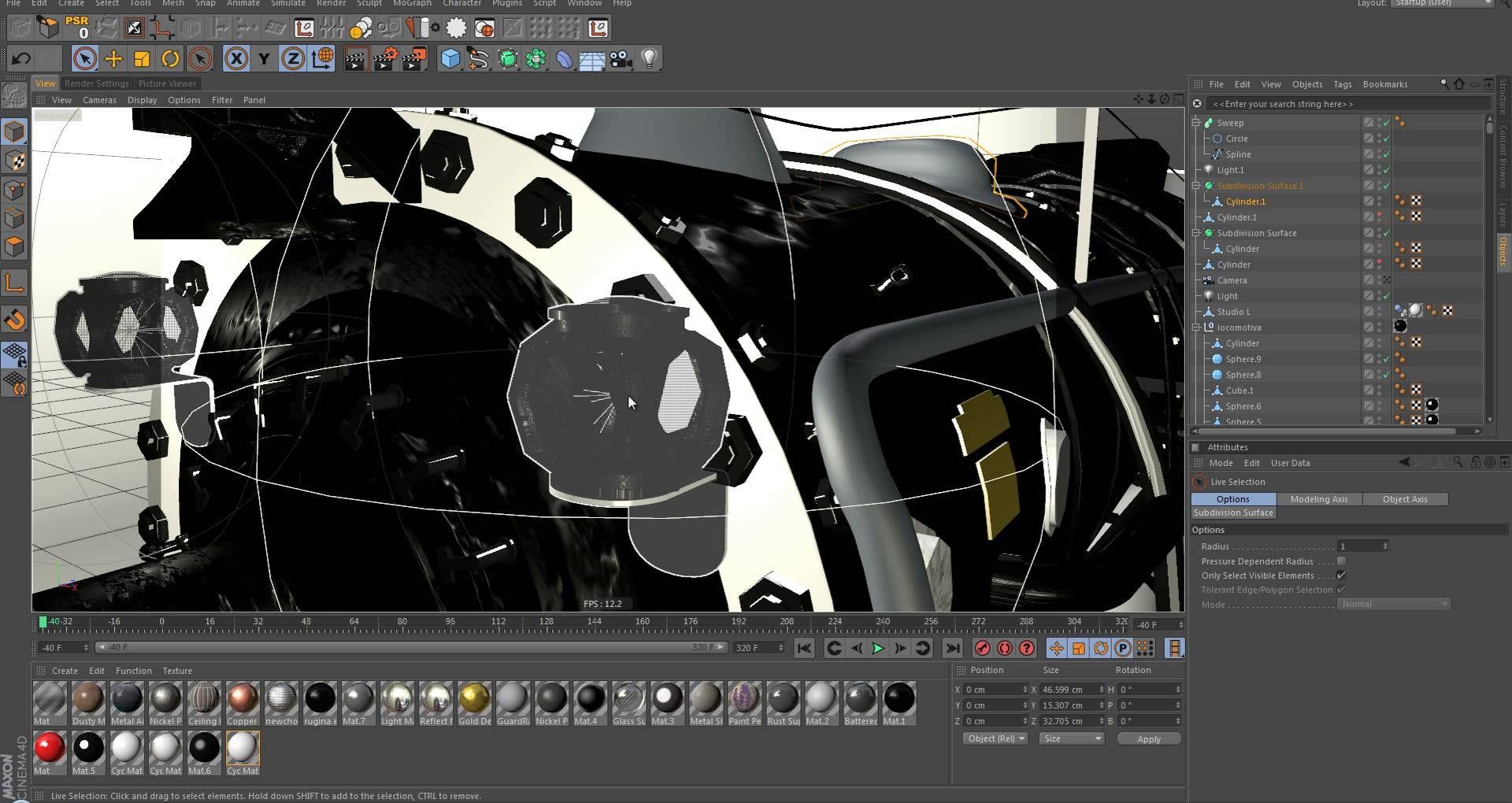 Cinema 4d Steam Engine Locomotive Tutorial Cinema 4d Steam Engine Engineering
