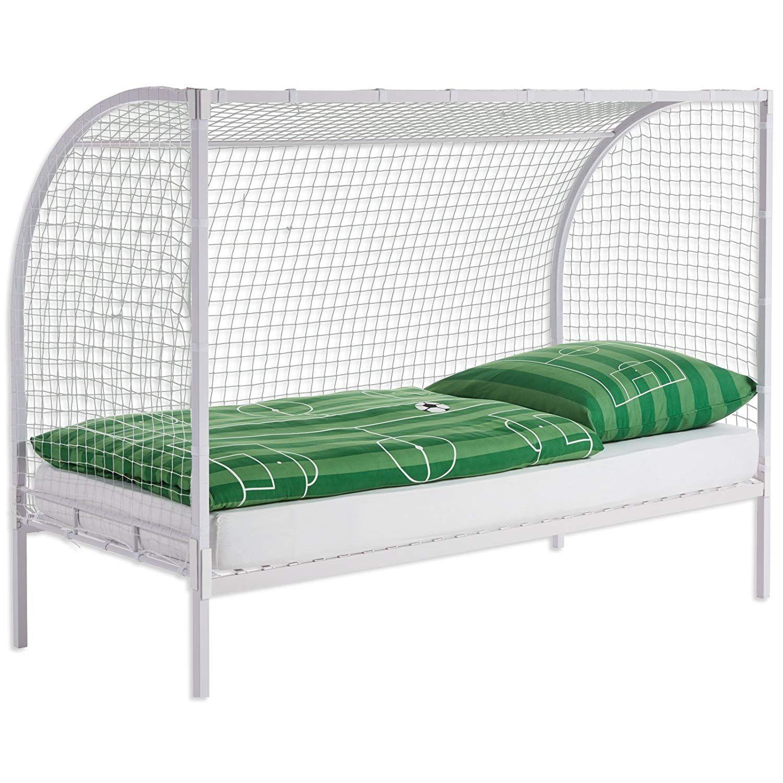 Jugendbett Zocker Weiss 90x200 Cm Dieses Bett Im Fussball