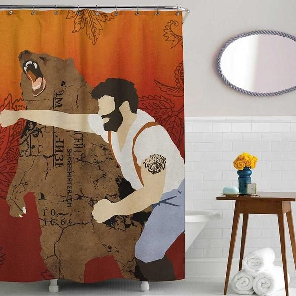 Manly Shower Curtain Shower Curtain Pirate Bathroom Decor Cool Shower Curtains