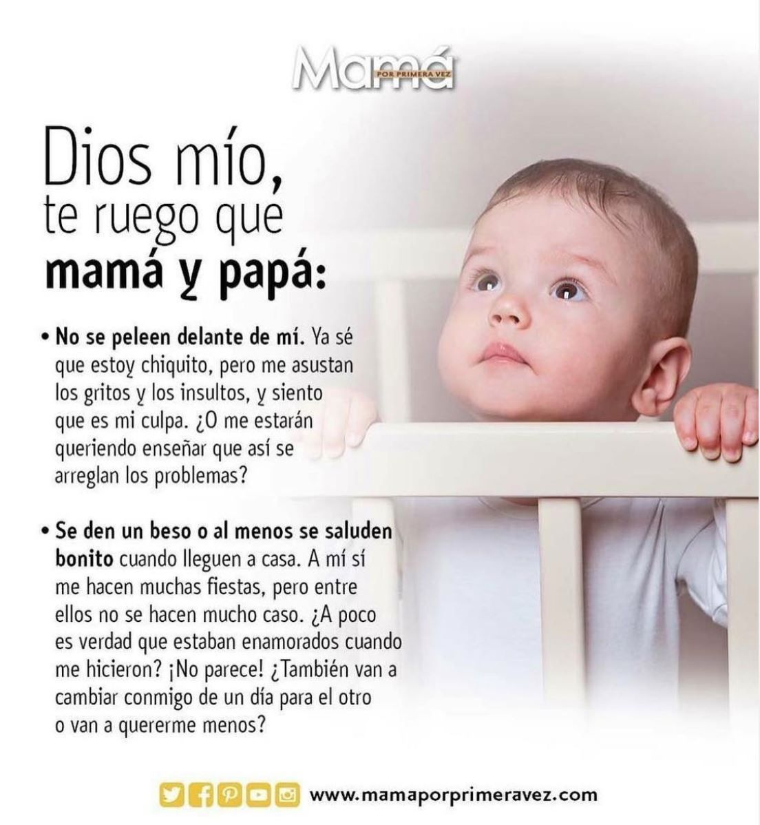 Dios Mío Te Ruego Que Mamá Y Papá Educación Del Bebé Embarazo Divertido Frases Para Bebes