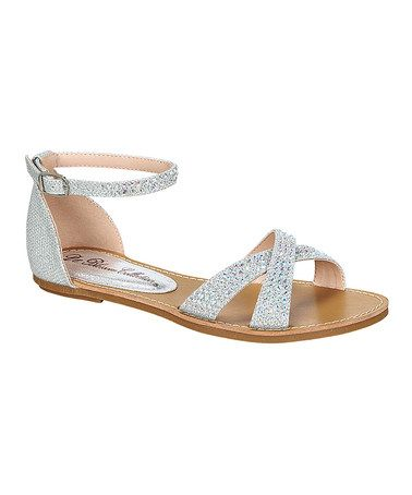 07ab37a5d2f Look at this  zulilyfind! Silver Maggie Gladiator Sandal ...