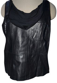 DREW Top BLACK size large leather!! So stunning $230