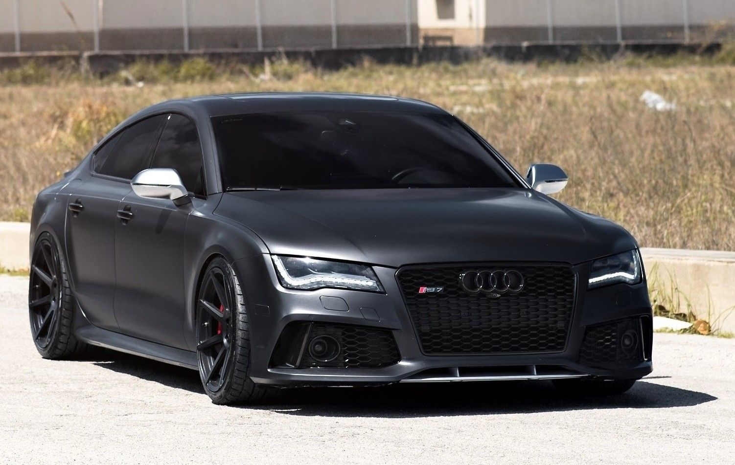 Matt Black Audi Rs7 On Velgen Wheels Cars Coole Autos Autos