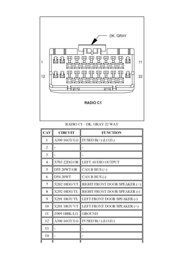 2006 chrysler 300 radio wiring diagram  save wiring