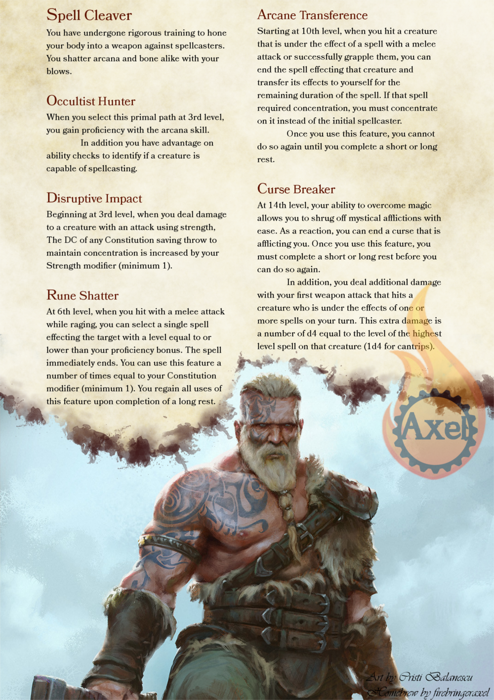 Spell Cleaver | DnD | Dungeons, dragons homebrew, Dungeons