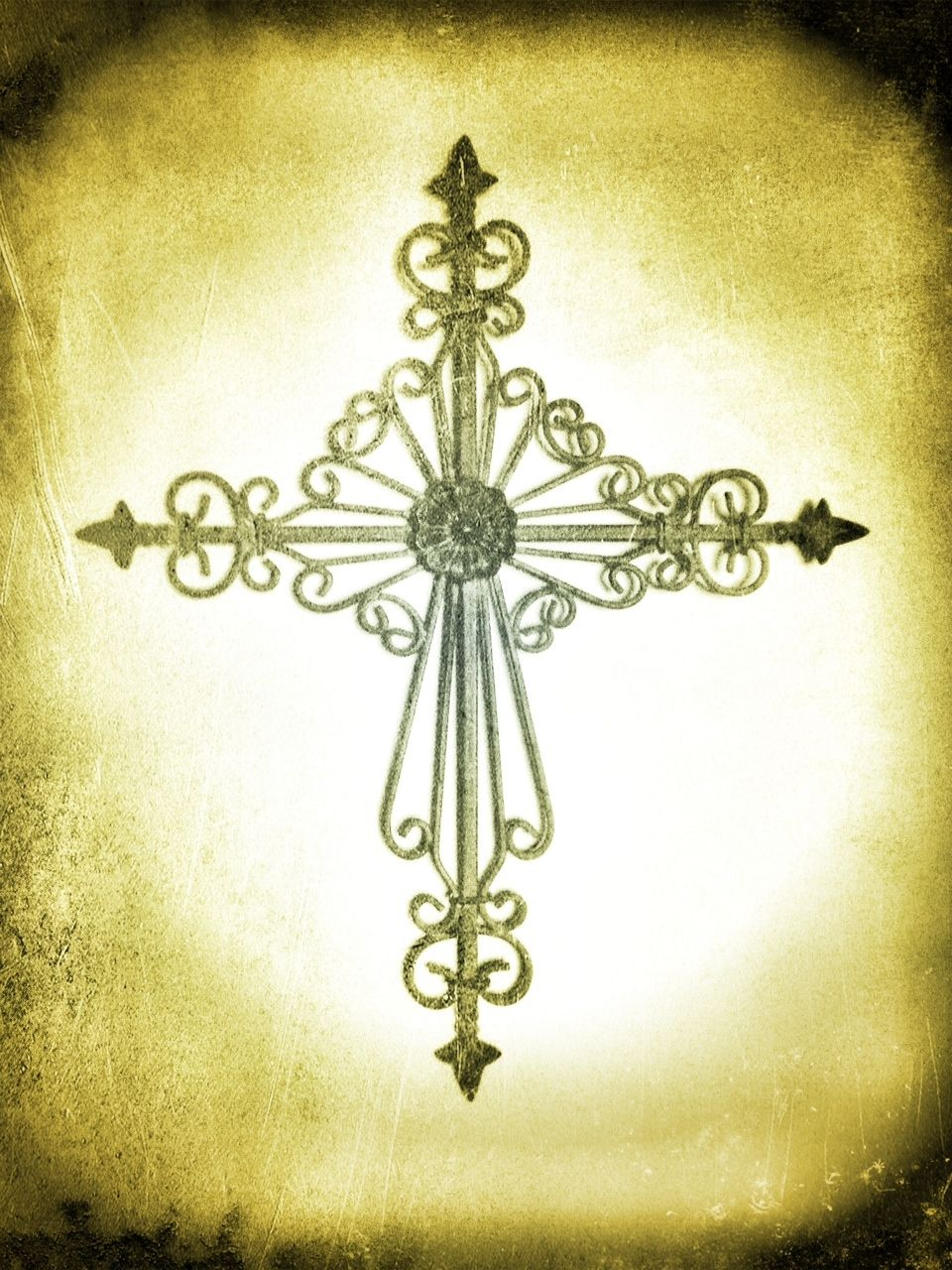 Ironwork cross. I might have a small obsession with cross home decor ...