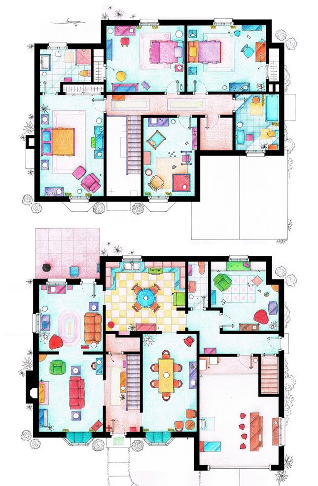 floor plans of your favourite tv shows tv show house