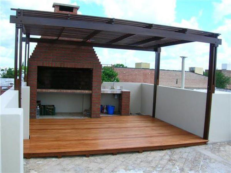 Pergolas de madera p rgolas de aluminio p rgolas con for Modelo de casa quinta en paraguay