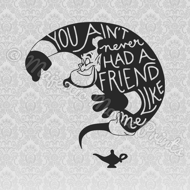 Aladdin Genie Svg You Aint Never Had A Friend Like Me Genie