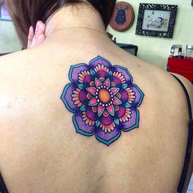 For those who prefer their mandala tattoos bright, poppy and colorful, this blog is