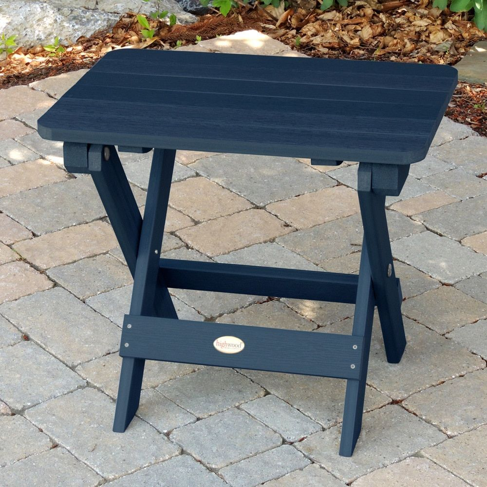 Highwood ecofriendly synthetic wood adirondack folding side table