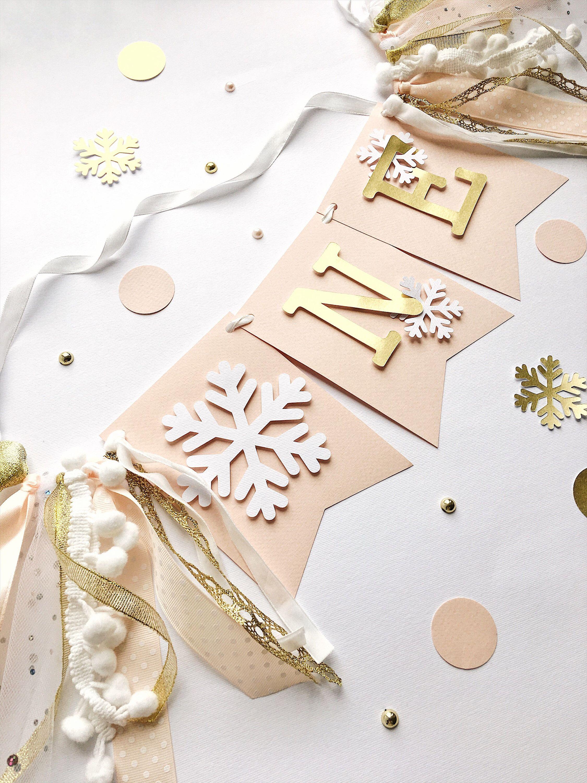 Winter Onederland High Chair Banner Little Snowflake Girl 1st | Etsy
