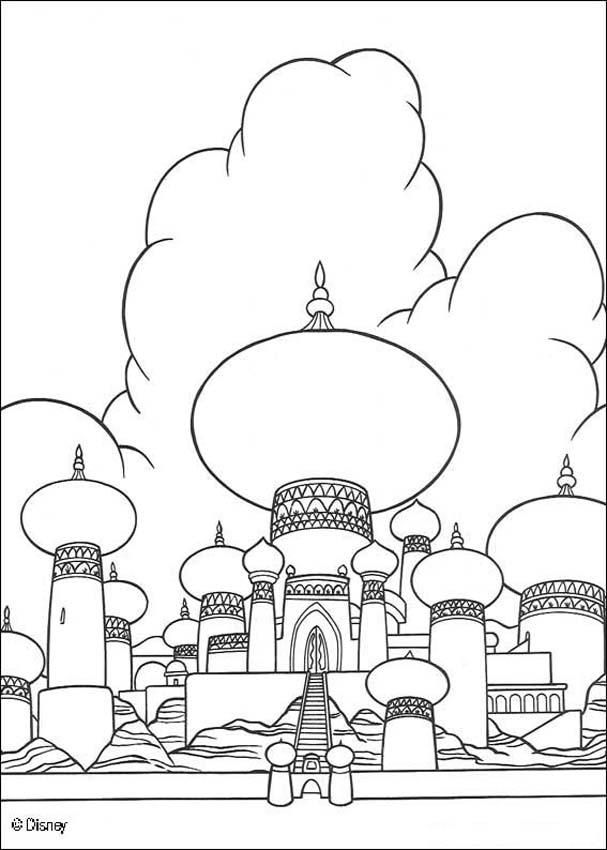 Coloring Page About Aladdin Disney Movie Nice Drawing Of