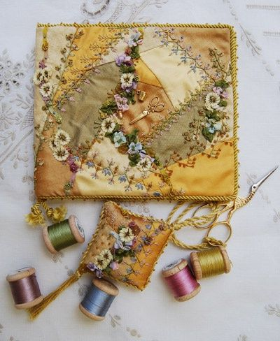Needlecase - what a good idea. The likelihood of me completing an entire crazy bed quilt is vanishingly small, but this is perfectly doable!