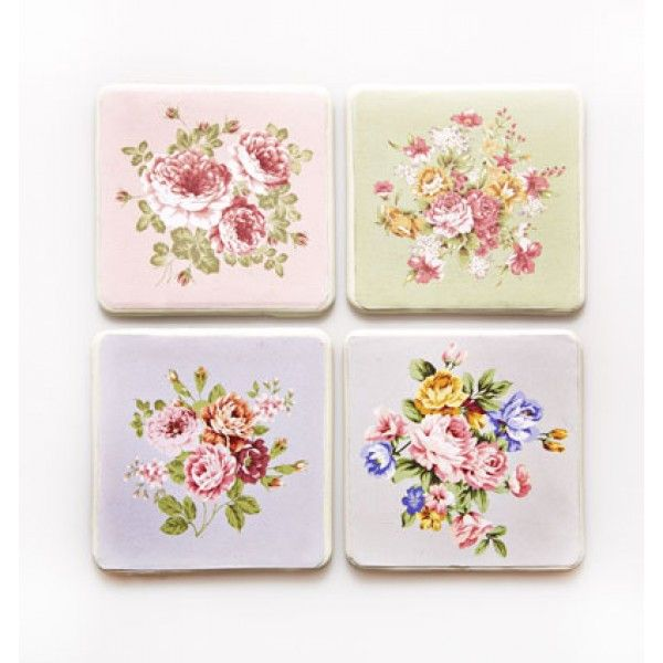 Classic Rose Coasters Set of 4 | Home Wishlist | Pinterest ...