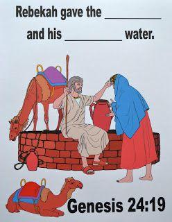Bible Fun For Kids: Genesis: Isaac & Rebekah   Junior Church   Bible