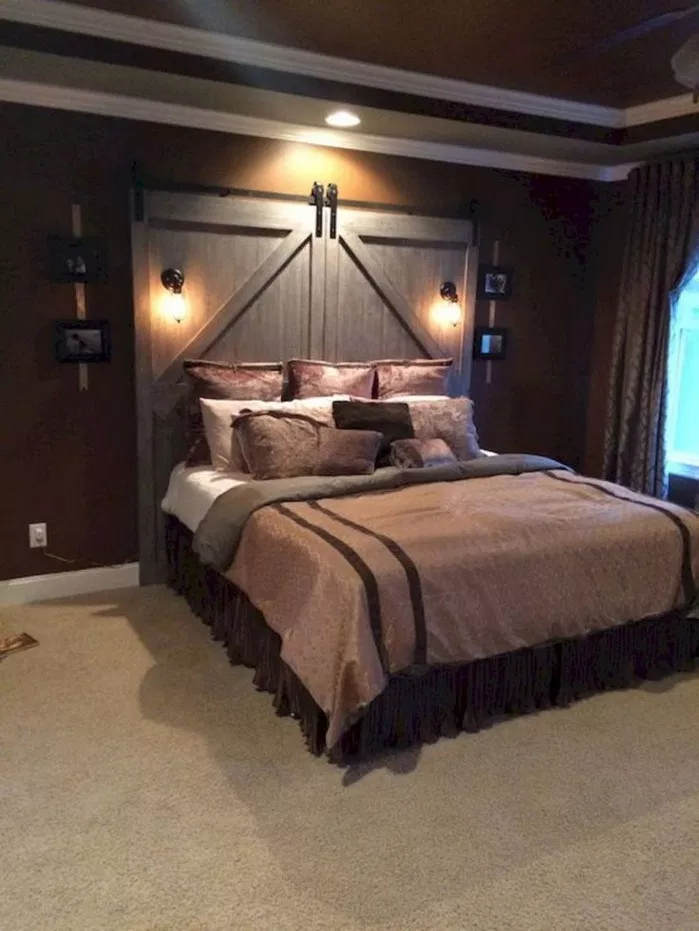 60 Warm and Cozy Rustic Master Bedroom Decorating Ideas ...