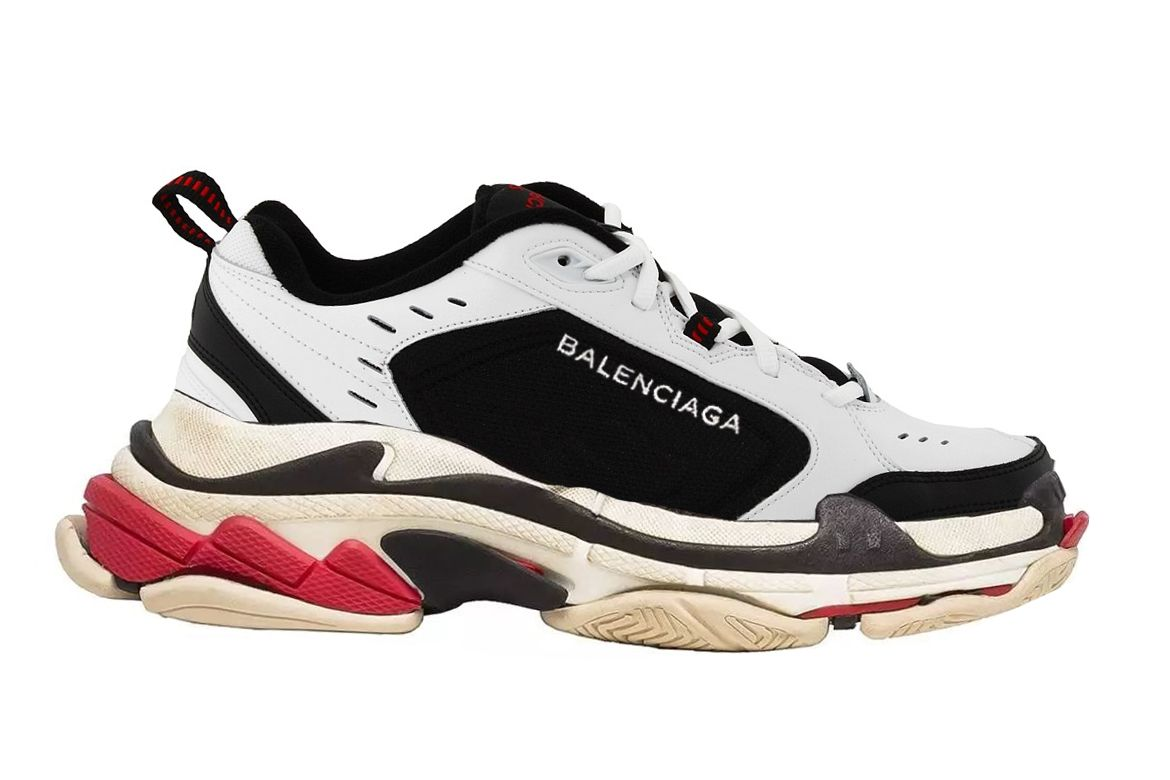 Photoshopped Nike Air Monarchs with the Balenciaga Triple S' to show how  ridiculous they are