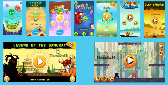 HTML5 BEST9 GAMES BUNDLE №4 - Price $43 | Codecanyon collections