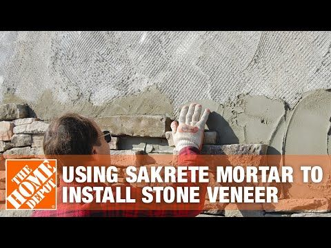How To Use Sakrete Mortar To Install Stone Veneer The Home Depot Stone Veneer Veneers Installation