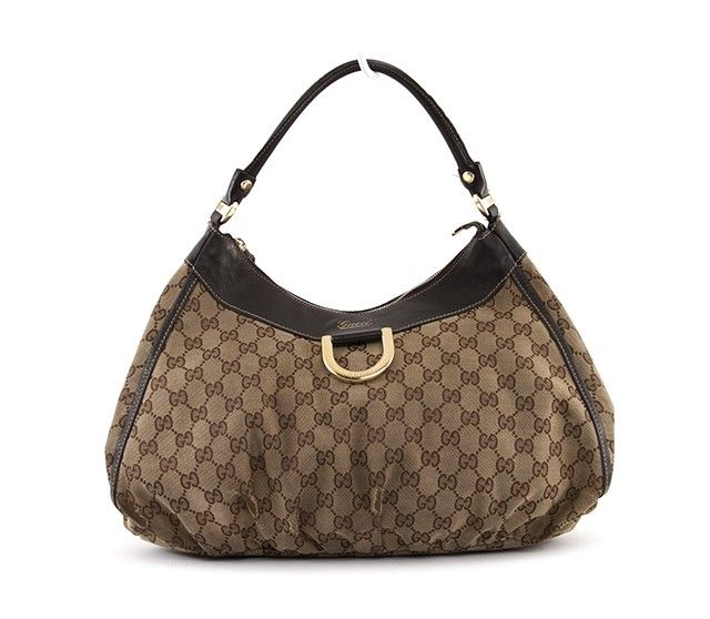 Gucci Monogram Canvas D-Gold Hobo Bag Review Buy Now