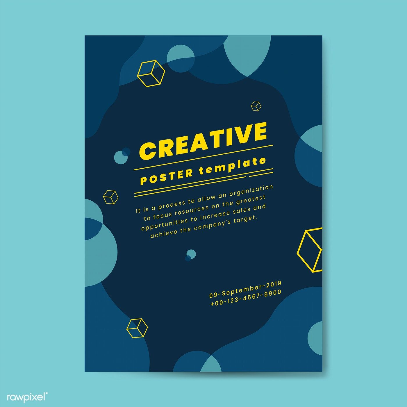Download Premium Vector Of Creative Advertisement Poster Template