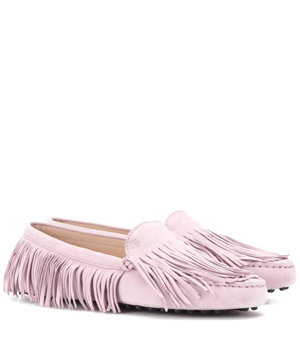 Gommino fringe suede loafers Tod's BlDoaql