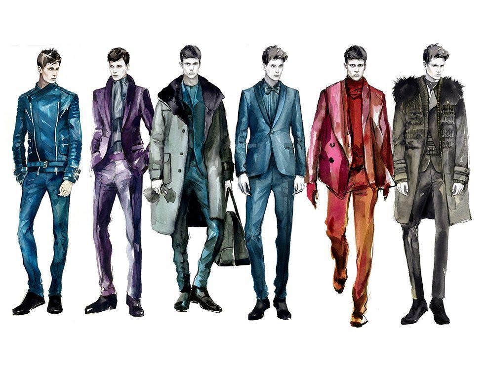 Fashion Illustrator Mengjie Di: Commission Menswear Drawing from NYC