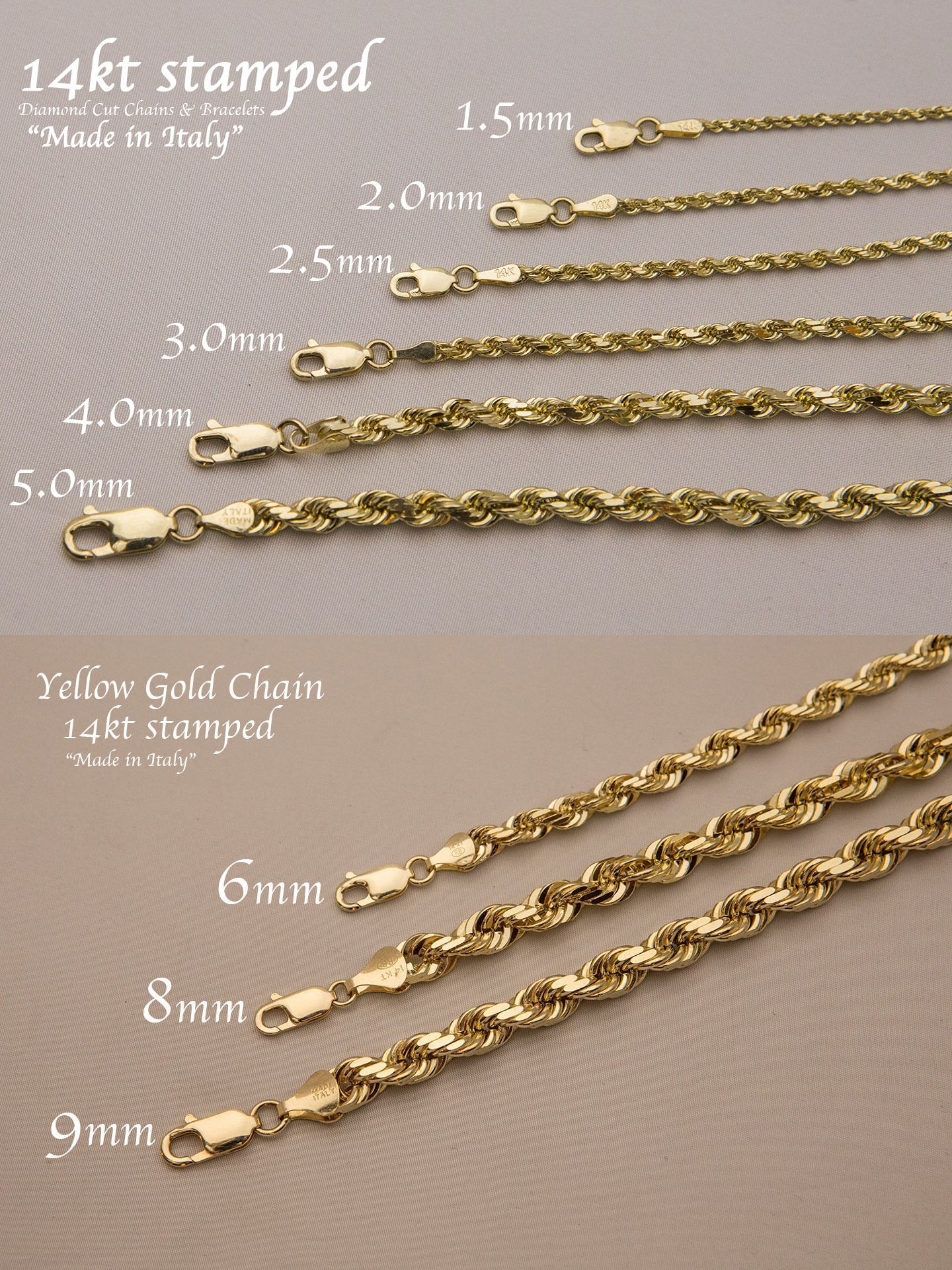 7c748f0c735fb Fine Necklaces and Pendants 164329: 14K Solid Yellow Gold Rope Chain ...