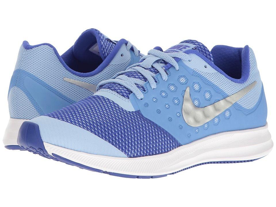 e264456fd0b06 Nike Kids Downshifter 7 (Big Kid) (Aluminum Metallic Silver Paramount Blue