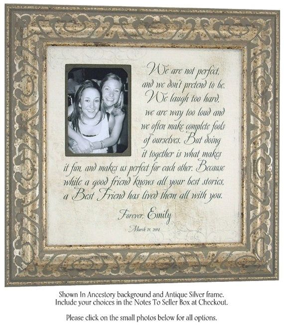 Friendship Quotes Maid Of Honor Speech: Grandmother Grandfather Gift, Personalized Wedding Frame