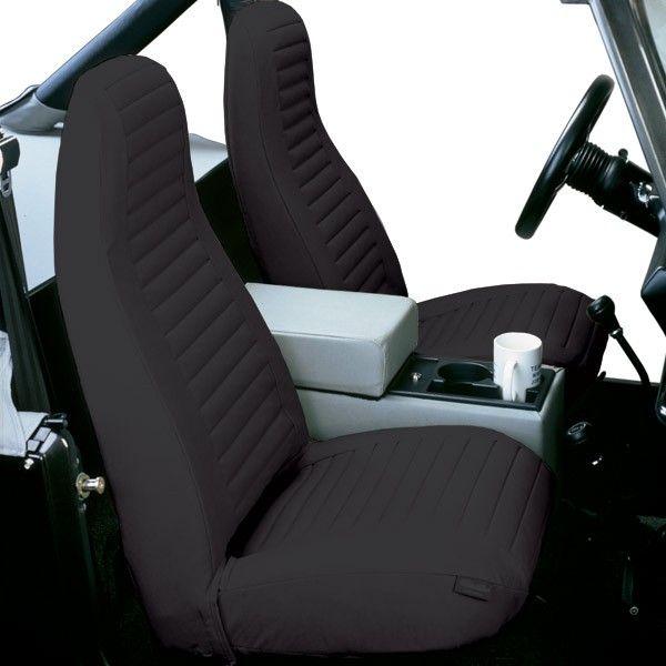 Bestop Seat Cover High Back Bucket Pair Black Denim Jeep