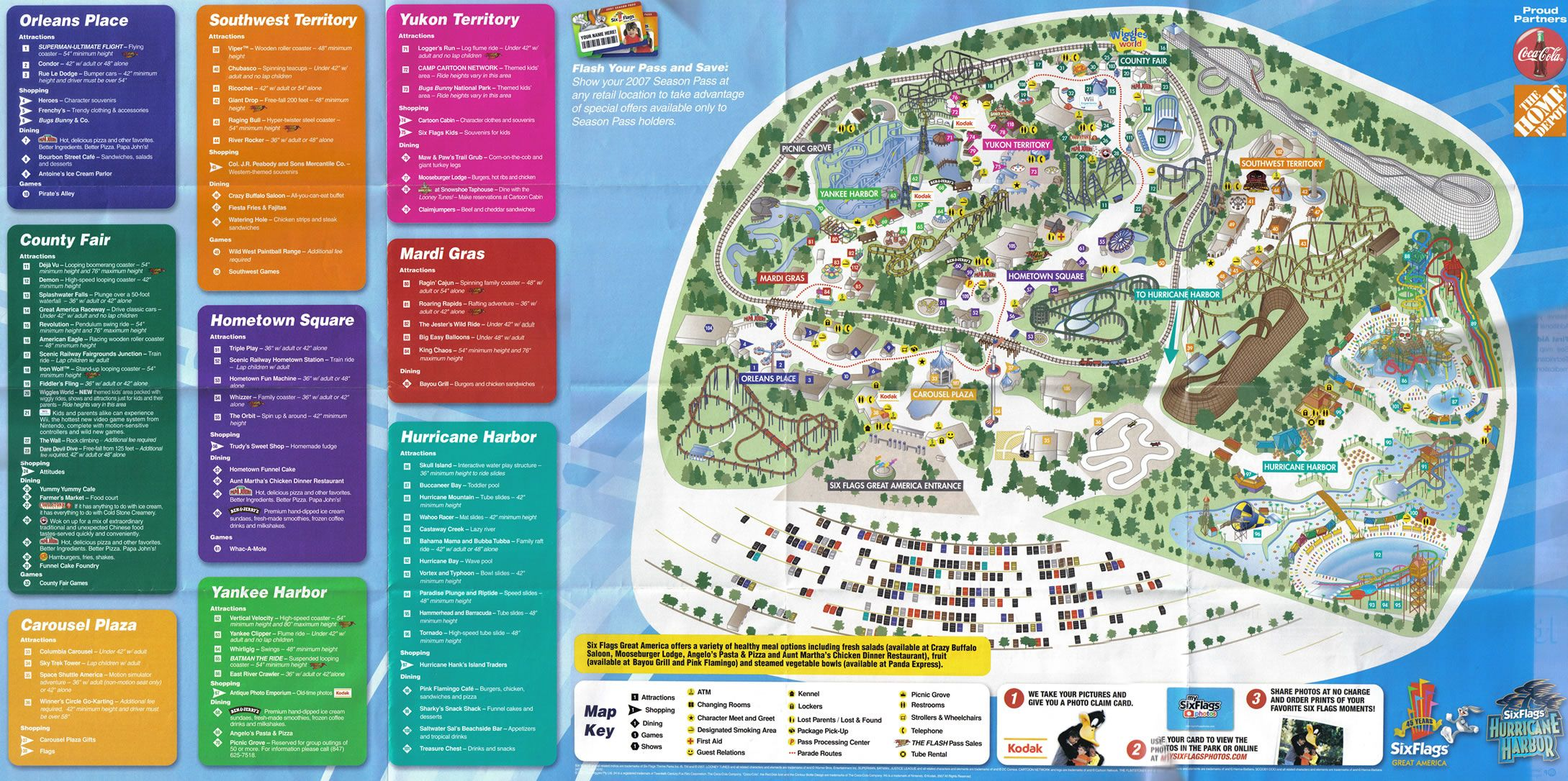 Great America Six Flags Great America Theme Park Map Theme Park Map Great America America Theme