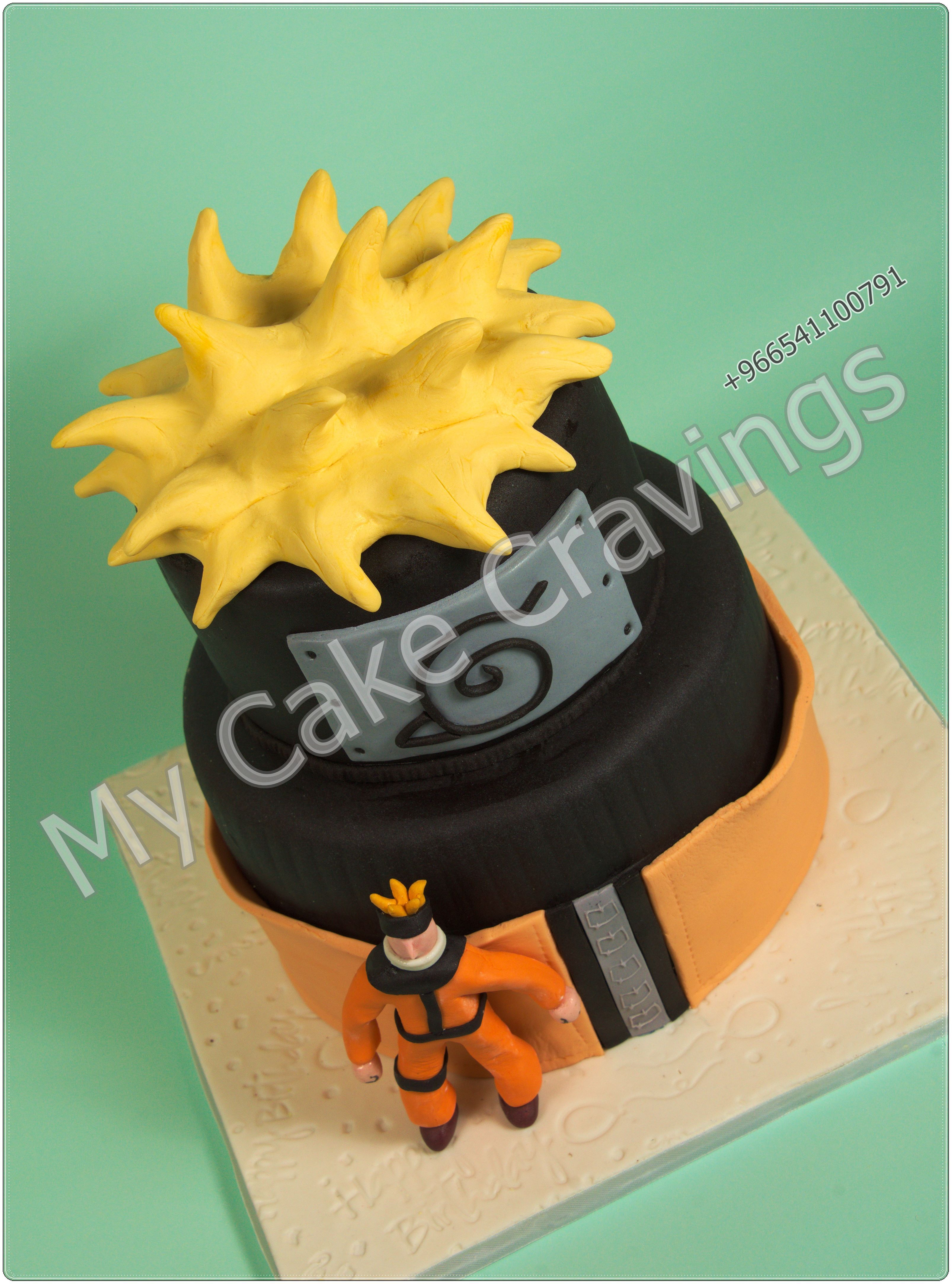 Japanese Anime Naruto Cake Cartoon cake, Amazing cakes