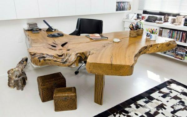Epic Baumstamm Tisch der Eyecatcher im rustikalen Wohnzimmer
