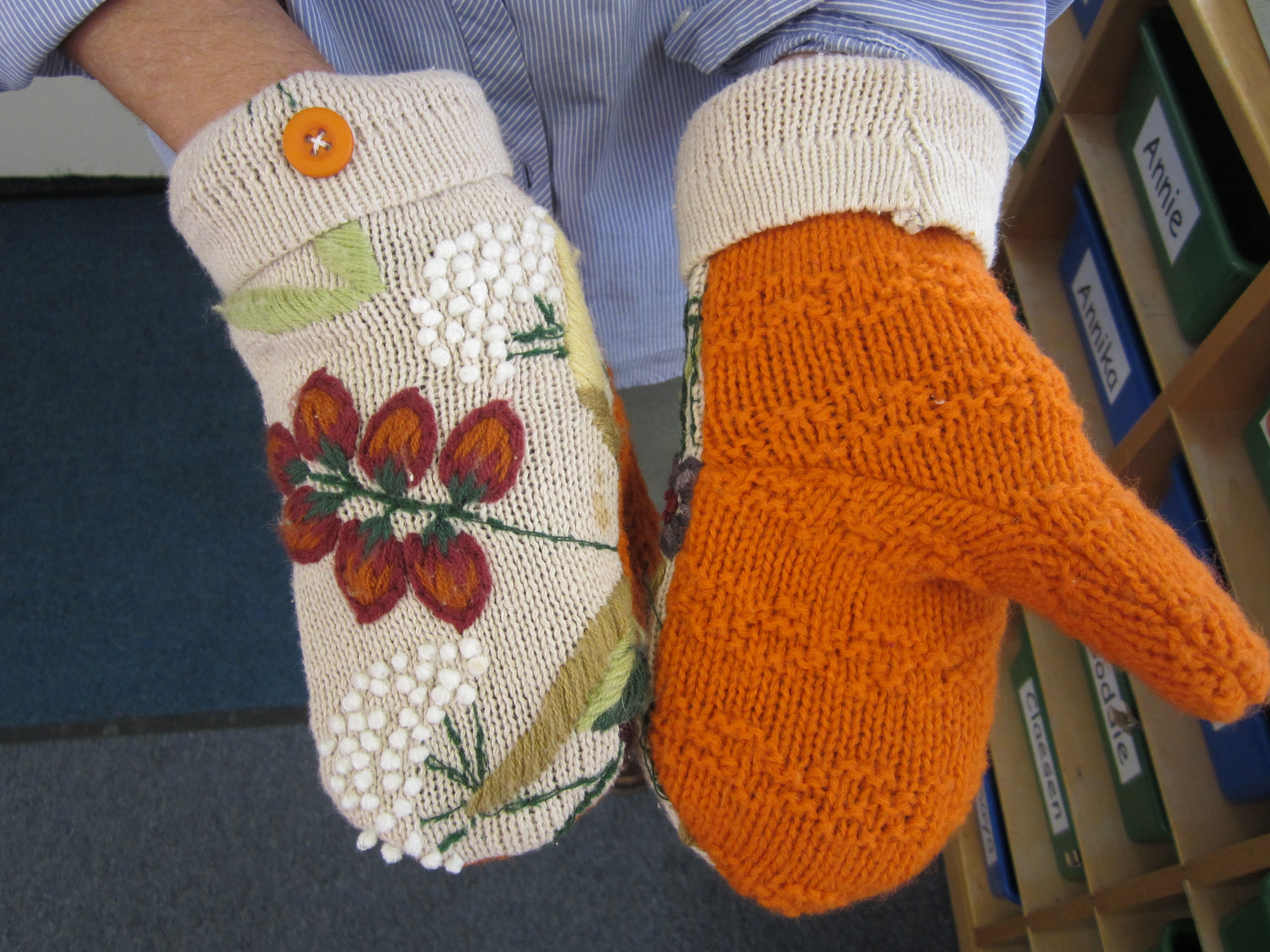 DIY mittens from thrift store sweaters