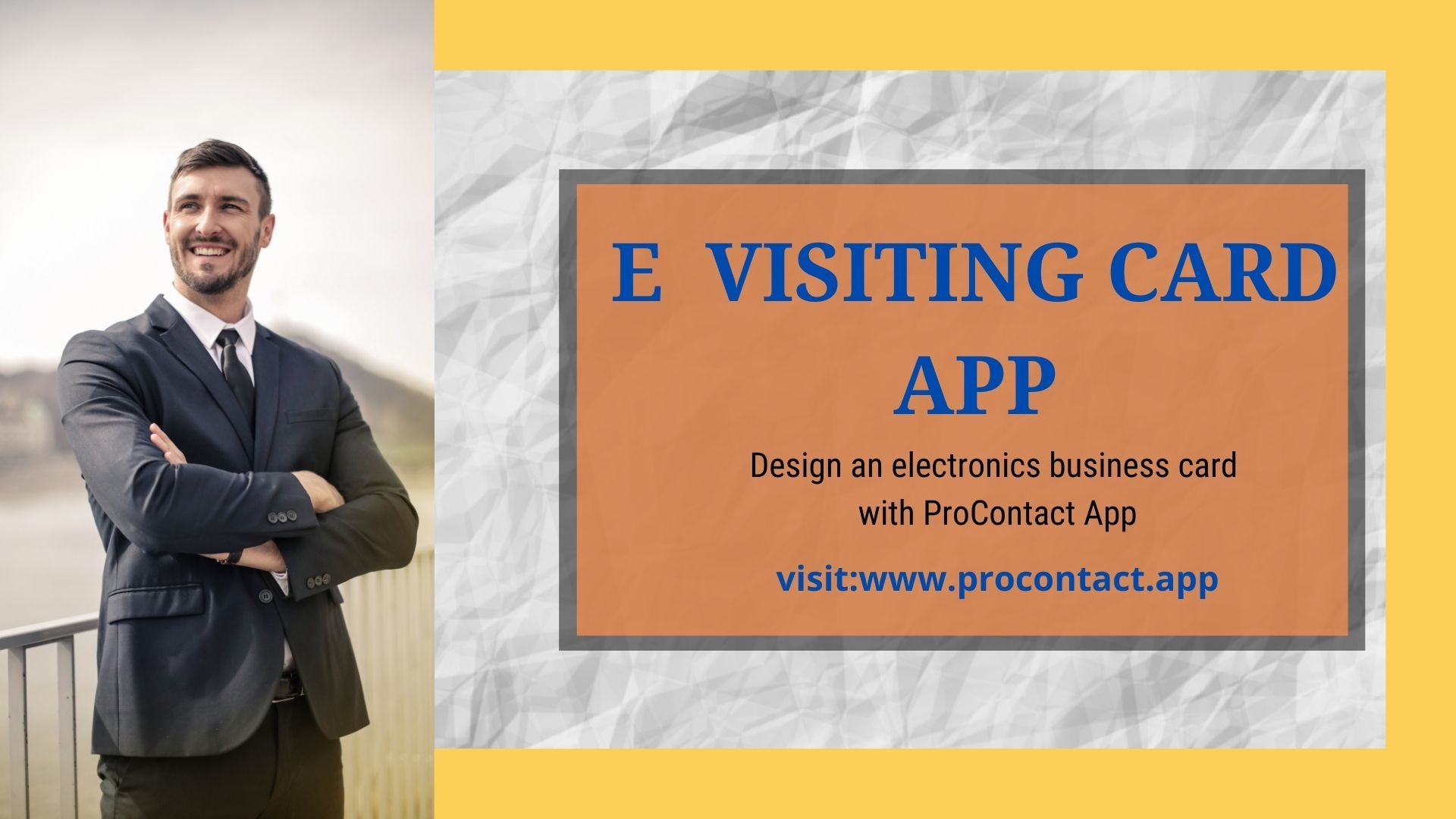Design Your E Visiting Card With Procontact App Business Card App Digital Business Card Visiting Cards