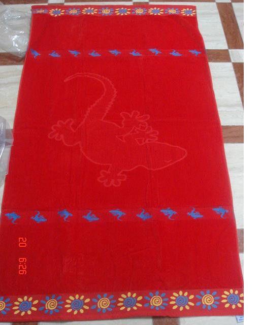 Red Lizard 40x70 Egyptian Cotton Beach Towel Red Lizard Beach