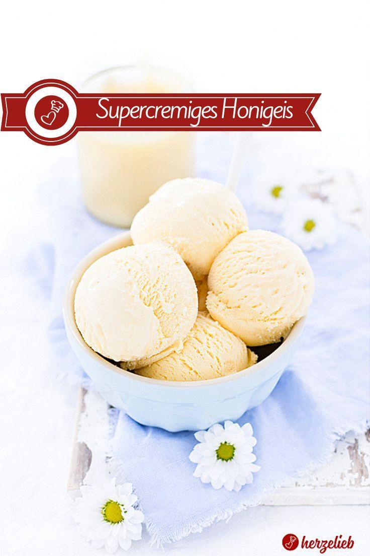 Honigeis Rezept - das cremigste Eis, das ich je gemacht habe