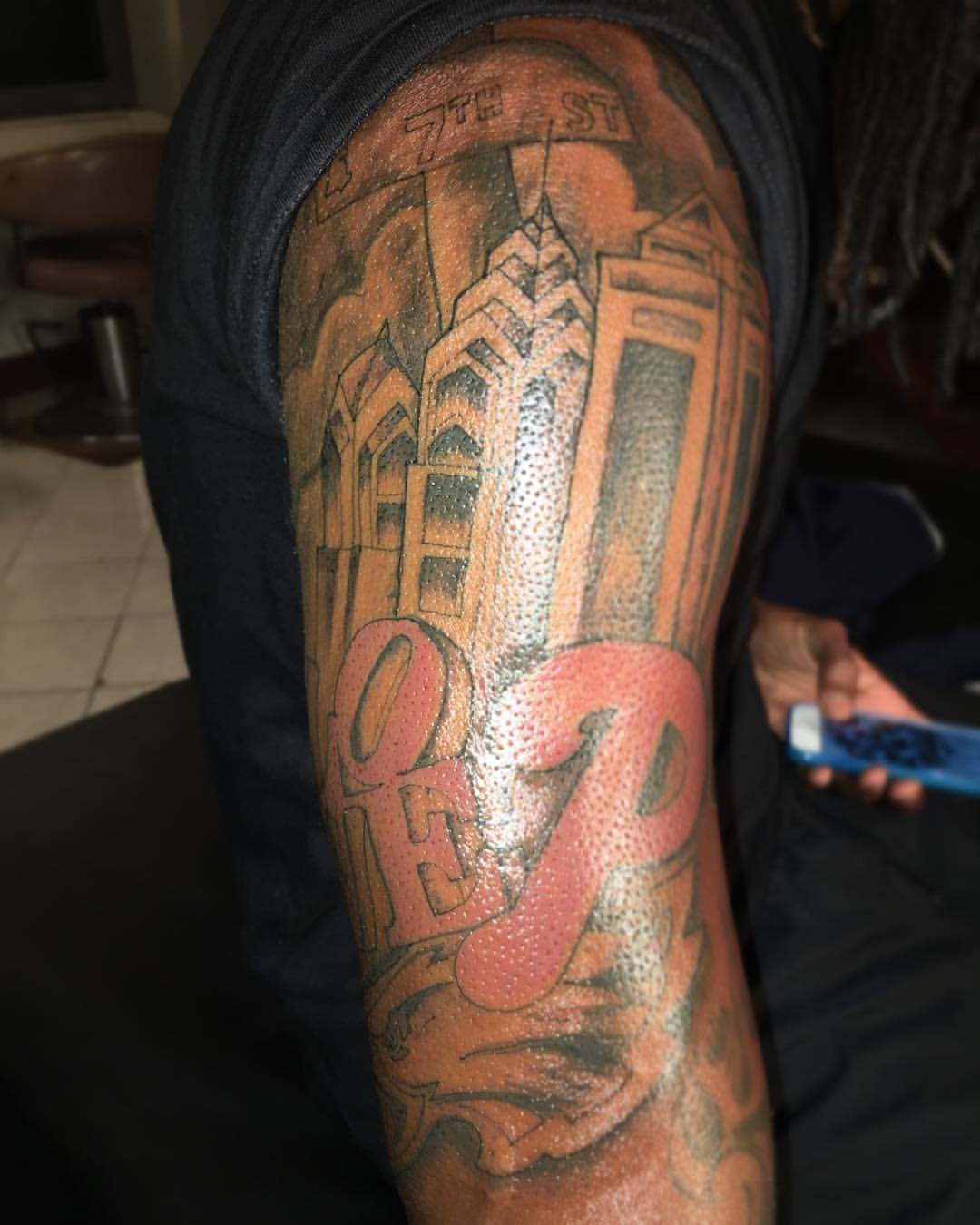 Sleeve Tattoo Artist: Philly Theme Half Sleeve Tattoo I Did Yesterday ! It's A