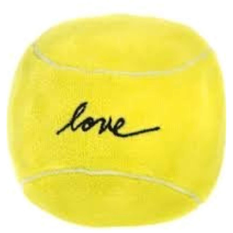 Ed Ellen Degeneres Love Plush Squeaker Tennis Ball Dog Toy