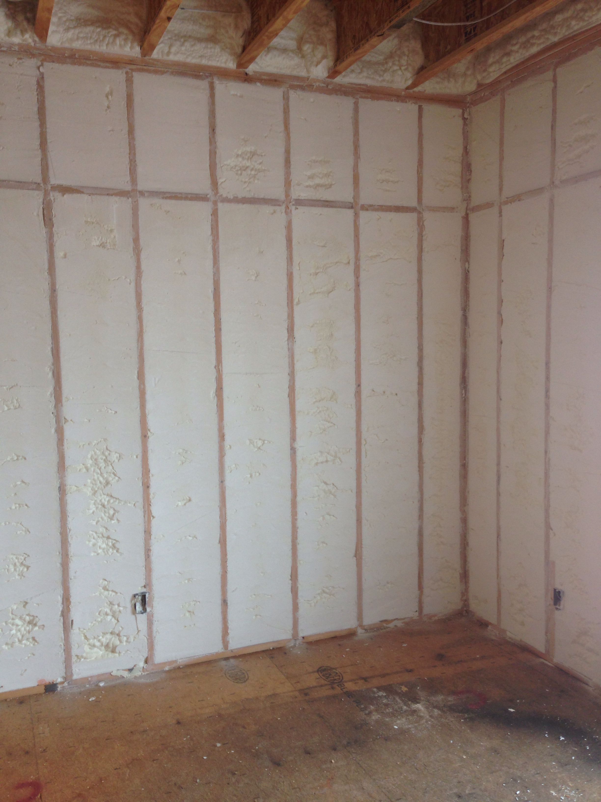 Exterior Walls Filled With Open Cell Spray Foam Insulation Makes A House Tight Comfortable