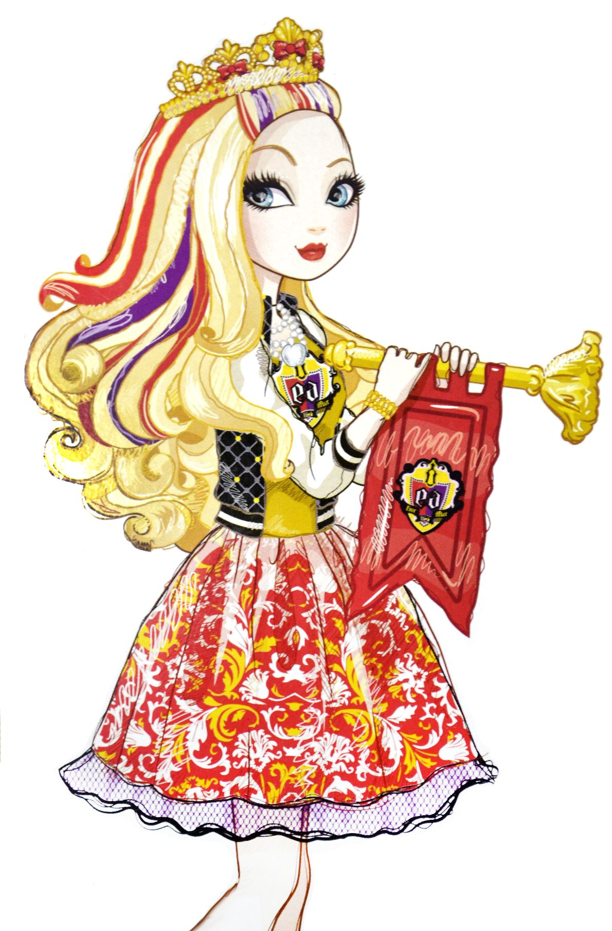 Ever after high dolls apple white