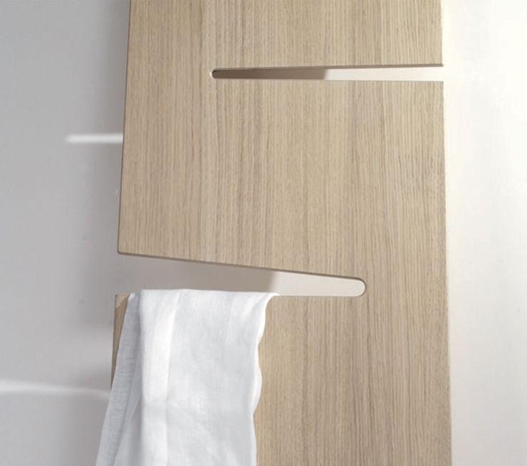 Ex-t - porte serviette Lean, chêne, salle de bain scandinave épuré - porte serviette salle de bain design