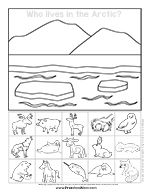arctic animal preschool printables - Baby Arctic Animals Coloring Pages
