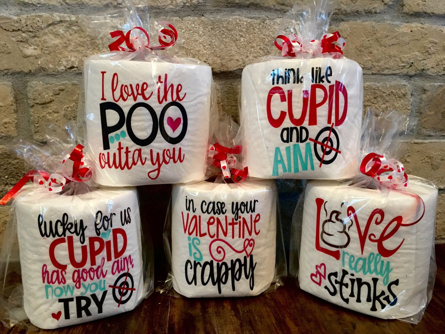 Humorous Adult Valentine Toilet Paper, Funny Gag Gift