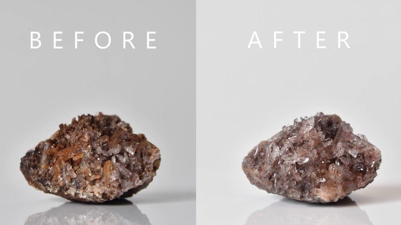 New easy method of cleaning Quartz crystals, alternative