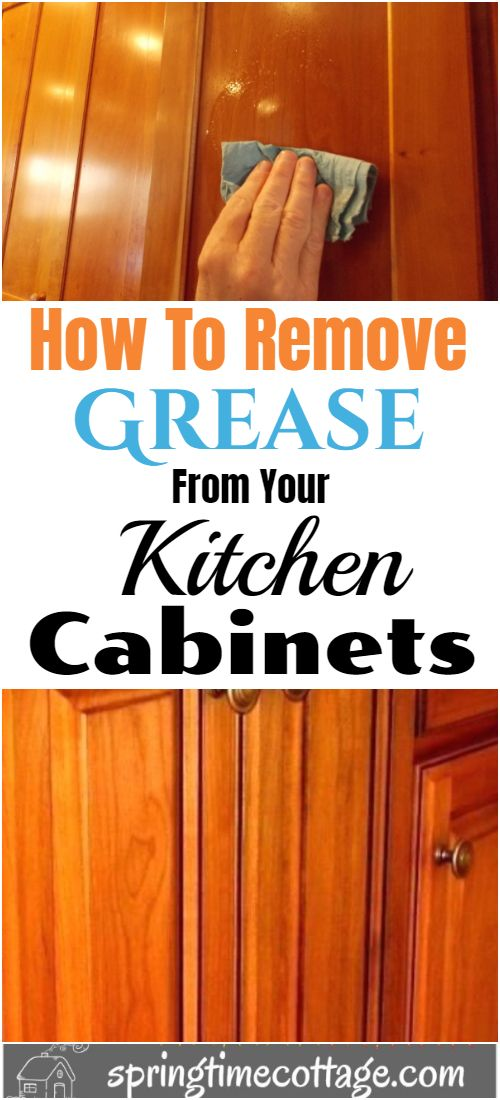How to clean your wooden cabinets