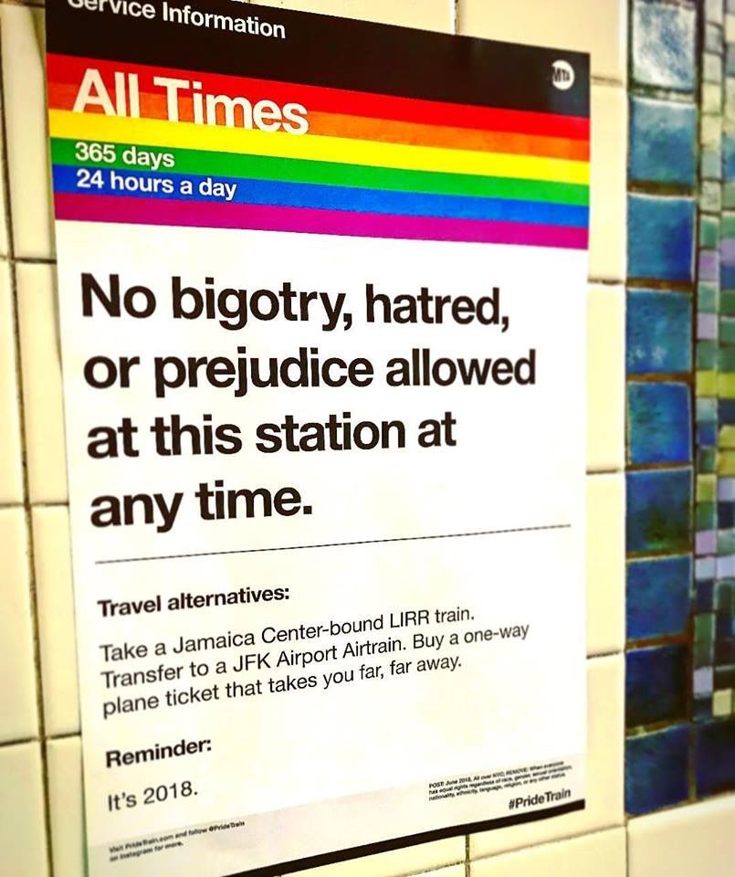 Sign At The Christopher St Subway Station In NYC