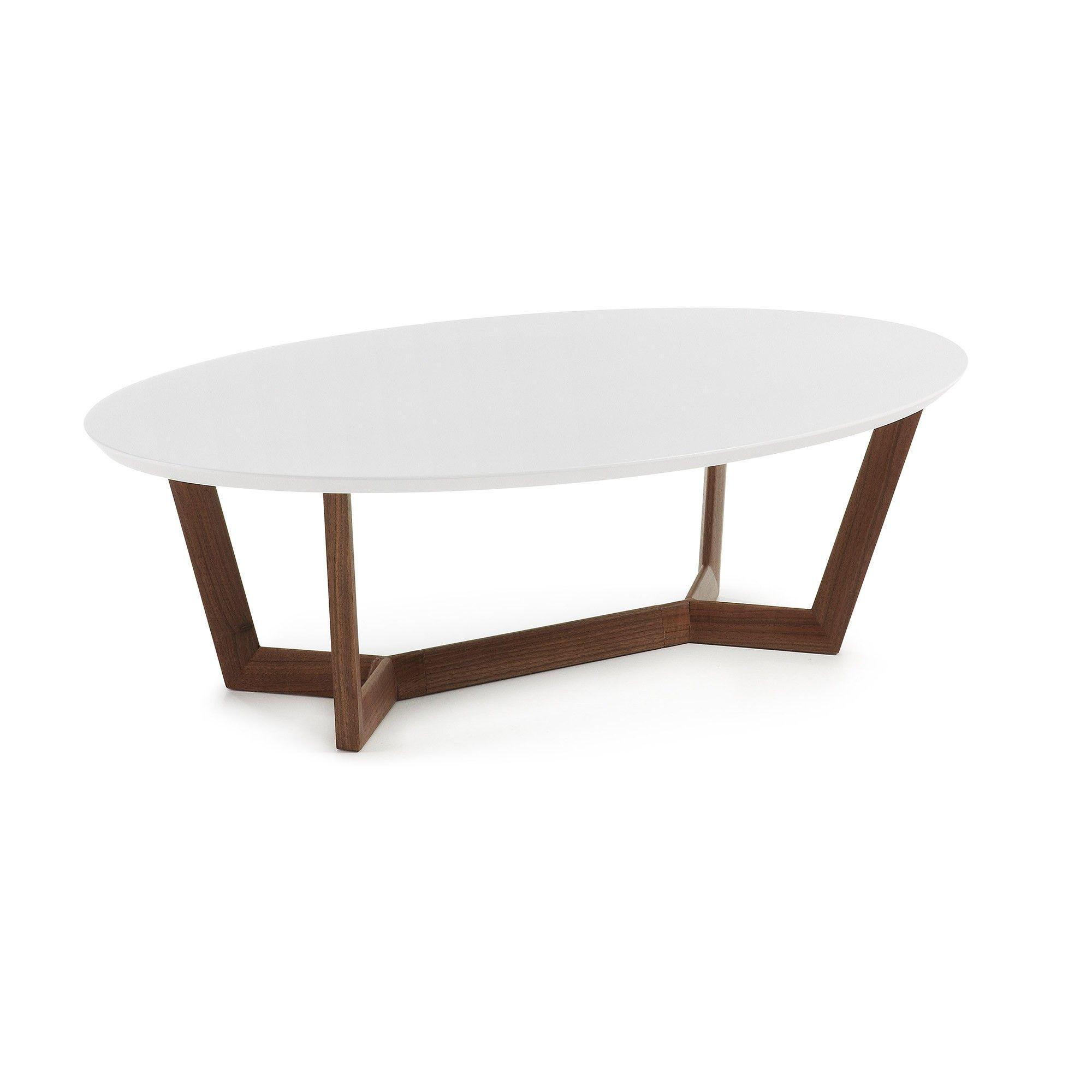 Table Basse Wave Noyer Et Blanc Salons # Meuble Tv Wave